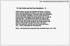 Der Fuchs und die Frau Gevatterin – Brüder Grimm (Seite 2)