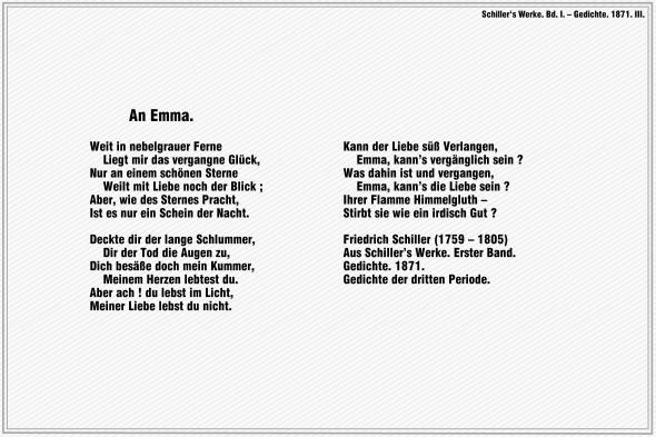 An Emma – Friedrich Schiller