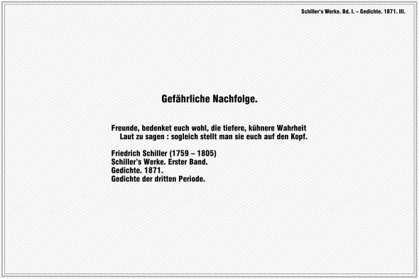 Gefaehrliche Nachfolge – Friedrich Schiller