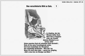 Das verschleierte Bild zu Sais – Friedrich Schiller (Seite 1)